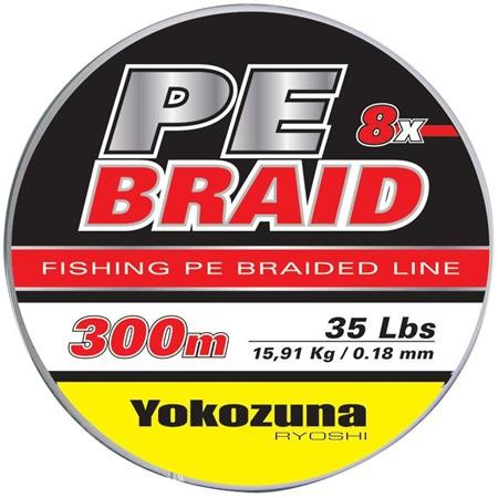 TRESSE YOKOZUNA 8X PE BRAID GRIS - 150M