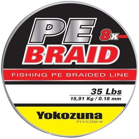 TRESSE YOKOZUNA 8X PE BRAID GRIS - 3000M