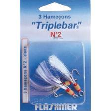TRIPLE SALTWATER HOOK FLASHMER TRIPLEBAR - PACK OF 25