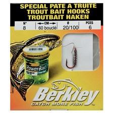 TROUT BAIT HOOKS BERKLEY - PACK OF 6 -  N°8