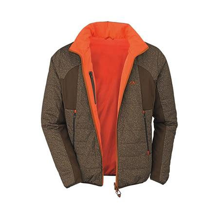 VESTE HOMME BLASER PRIMALOFT REVERSIBLE - MARRON/ORANGE