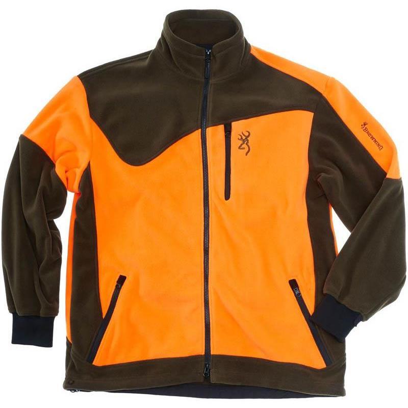 veste homme browning powerfleece one vert orange. Black Bedroom Furniture Sets. Home Design Ideas