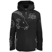 VESTE HOMME HOT SPOT DESIGN CARPFISHING MANIA - NOIR