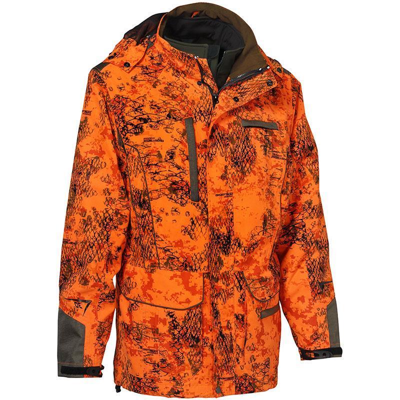 veste homme ligne verney carron ibex evo snake orange. Black Bedroom Furniture Sets. Home Design Ideas