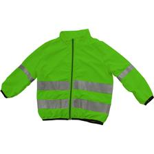 VESTE JUNIOR RFX CARE OUTDOOR COUPE-VENT REFLECHISSANT - VERT