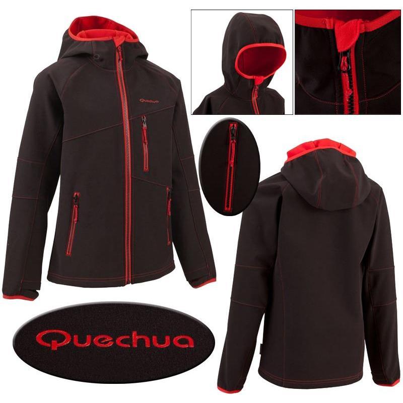 Veste quechua noir et rouge prix