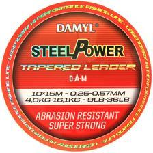 VORFACHSCHNUR DAM DAMYL STEELPOWER TAPERED LEADER