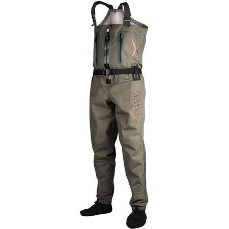 WADERS STOCKING RESPIRANT DEVAUX DVX 600 ZIP - OLIVE