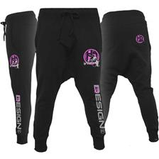 WOMAN PANTS HOT SPOT DESIGN SWEATPANT LADY ANGLER - BLACK