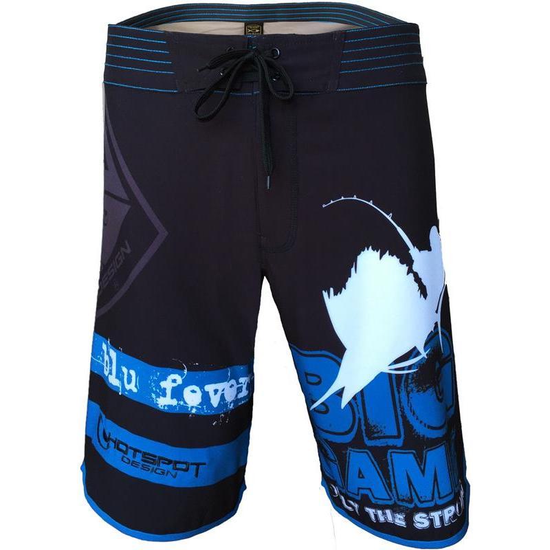 Zwembroek Blauw Heren.Zwembroek Heren Hot Spot Design Boardshort Big Game Zwart Blauw